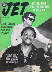 Robert Culp with Jesse Jackson on the cover of JET magazine, 1968