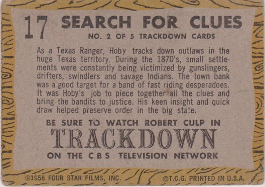 TRACKDOWN: Search for Clues
