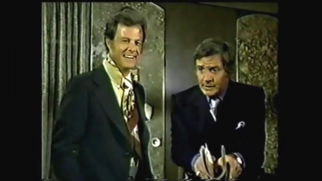 Robert Culp with Gene Berry in THE NAME OF THE GAME, 1970